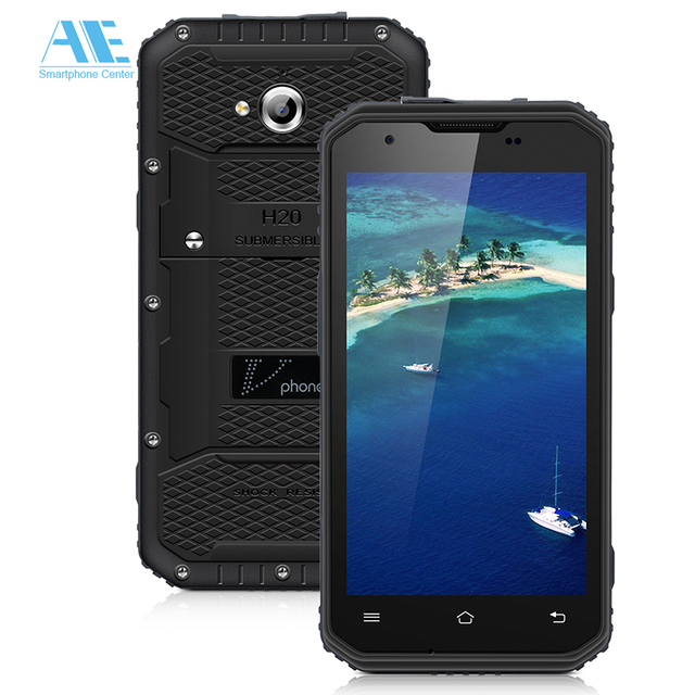 Original Vphone NO.1 M3 IP68 Waterproof MTK6735 Quad Core Android 5.1 Smartphone 5.0 Inch 2G RAM 16G ROM 13MP 4500mAh Cellphone