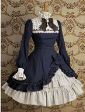 Gothic Punk Cotton Two-Piece Lolita Dress Costumes