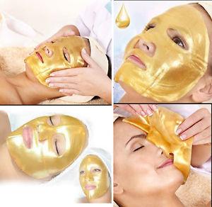 10pcs/lot 24K Gold Bio-Collagen Facial Mask  Anti Aging Hydrating Whitening Moisturizing Face Mask Free Shipping гелевая маска для лица collagen crystal facial mask