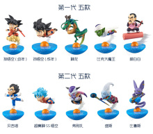 5pcs/set New Tumbler Dragon Ball Z roly-poly Son Goku Vegeta Freeza Beerus Cute MegaHouse YuraCole Series Action Figure 8cm