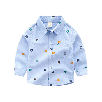 Long Sleeve White Baby Shirts Baby Boy Cotton Oxford Shirt Teenager Spring Boy Clothes Classic Tops Shirts Toddler Boy promotion image