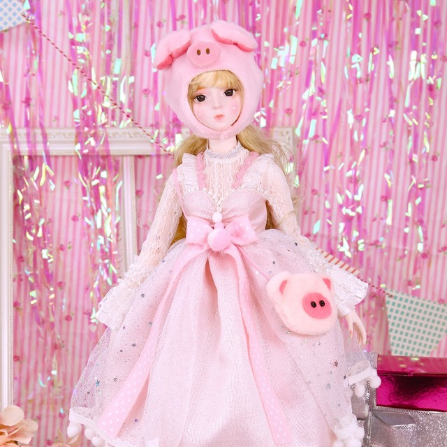 Dream Fairy 1/3 bjd doll 62cm pig girl doll with outfit shoes headwear cute doll