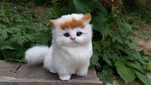 simulation yellow head cat polyethylene & fur cute cat model gift about 16x15cm159