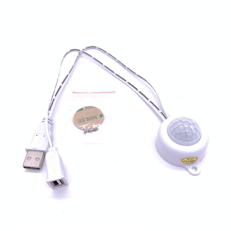 USB Port Infrared Human Sensor Switch 5V For LED Night Lights Strip Motion Sensor Light Luminaria Night Lamp Drop Ship