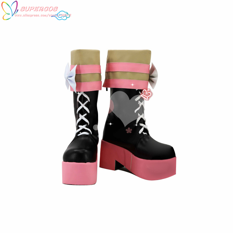 Free Shipping ! Danganronpa Utsugi Kotoko Cosplay Carnaval Shoes Boots Professional Handmade !