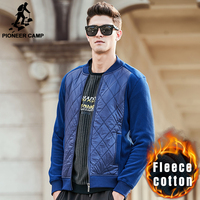 Pioneer Camp New Style Patchwork Hoodies Men Brand Male Thick Fleece Hoodies Quality Autumn Winter Warm