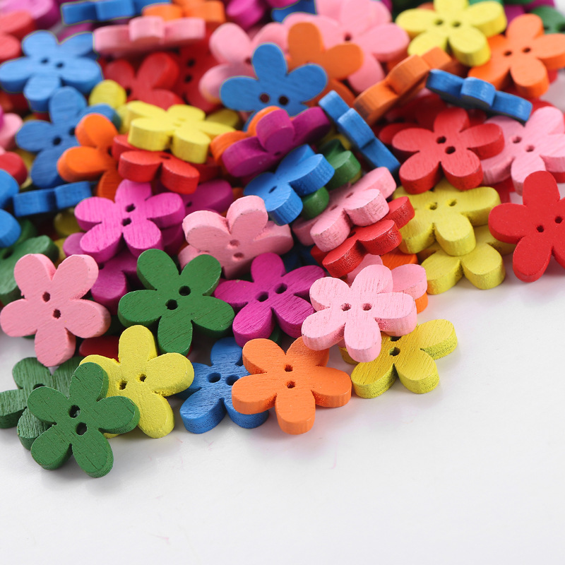 10 Pack of 13mm Round Resin Buttons with Etched Flower Hot Pink