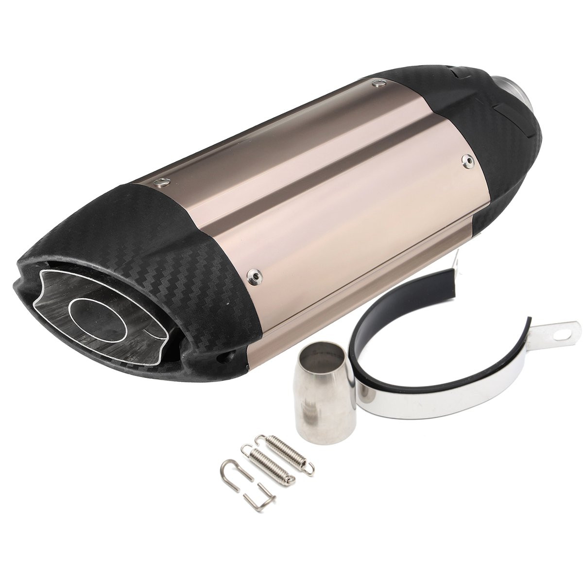 38-51mm Universal ATV Dirt BikeStreet Bike Scooter Motorcycle Carbonfiber Exhaust Muffler Pipe with Silencer length 360mm id 51mm carbon fiber motorcycle exhaust muffler pipe with silencer case for cb600 mt07 yzf duke fz6 atv dirt bike