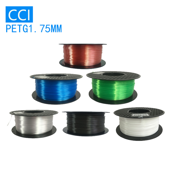 3d printer filament petg materiale petg 1,75 mm printer petg filament 1kg hvid sort transperent ren grøn blå