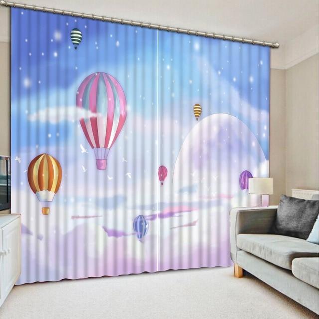 Baby Kamer Gordijnen Fantasy ballon 3D Gordijn Voor Kids ...