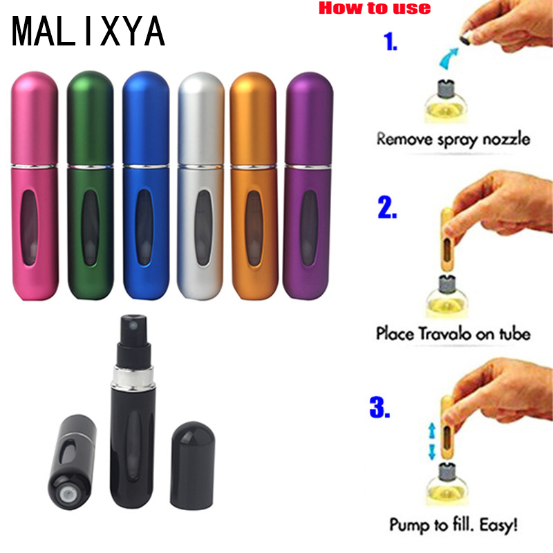 Refillable Portable Travel Mini Refillable Conveniet Empty Atomizer Perfume Bottles Cosmetic Containers For Traveler High Qualit