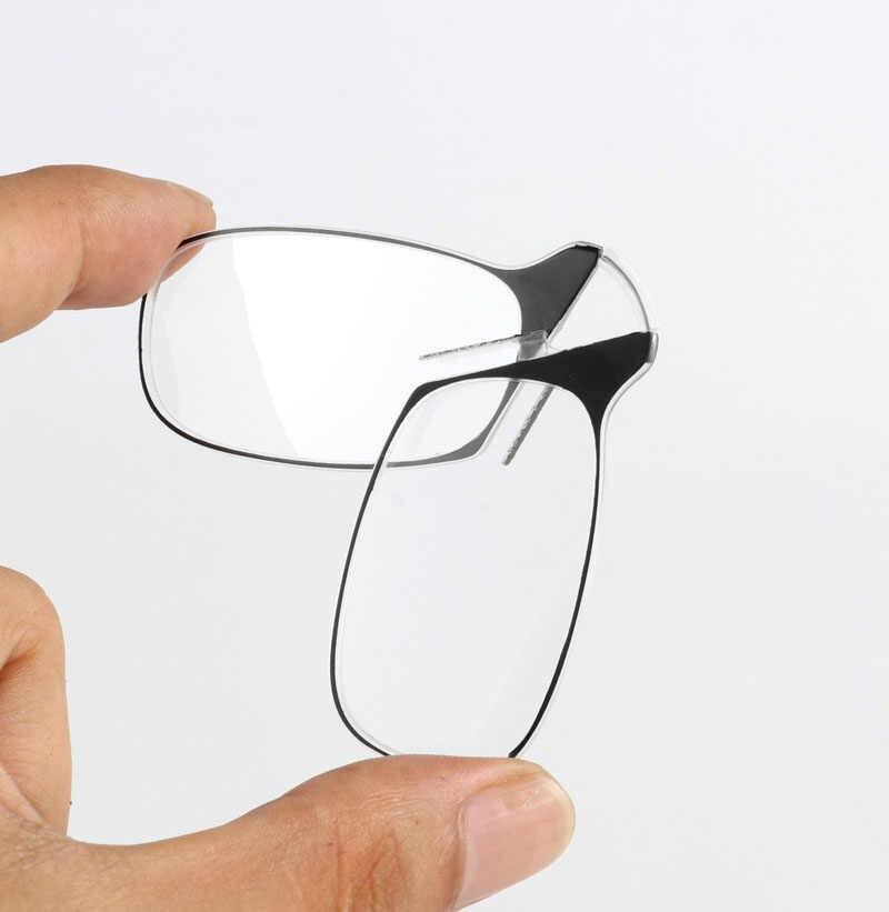 23c2d31ca9 ... WEARKAPER Clip de la nariz gafas de lectura lupa hombres Mini plegable  gafas de lectura de