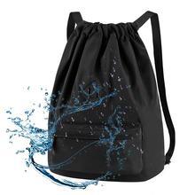 Vbiger, унисекс, нейлоновая сумка на шнурке, большая емкость, водонепроницаемый рюкзак, школьная сумка на плечо для школы, путешествий, покупок