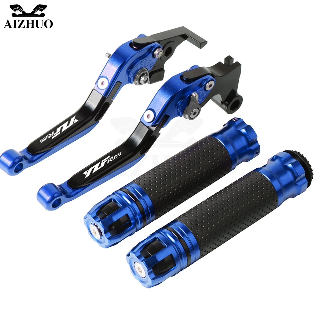 Motorcycle Accessories Brake Clutch Lever Extendable+Handle Grips Handlebar For YAMAHA YZFR25 YZF R25 2015-2017 2016Motorcycle Accessories Brake Clutch Lever Extendable+Handle Grips Handlebar For YAMAHA YZFR25 YZF R25 2015-2017 2016