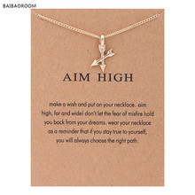 Fashion Aim High Gold-color Crossing Arrows Reminder Necklace For Women Jewelry