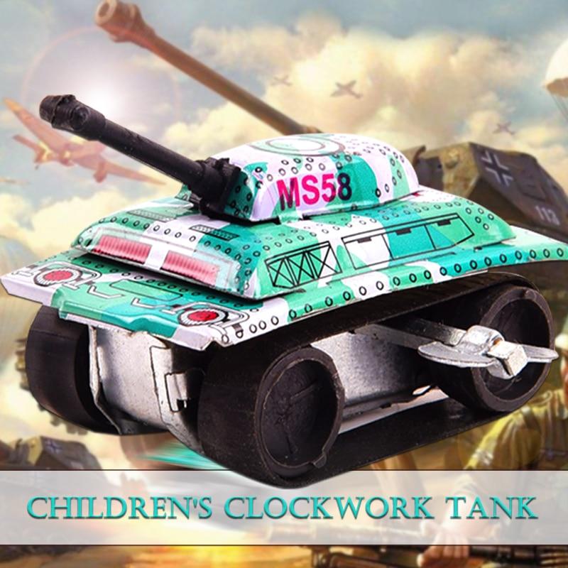 Заводные игрушки Танк модель Заводной Танк железная заводная игрушка развлекательное образование интересный утка подарок модель насекомые игры