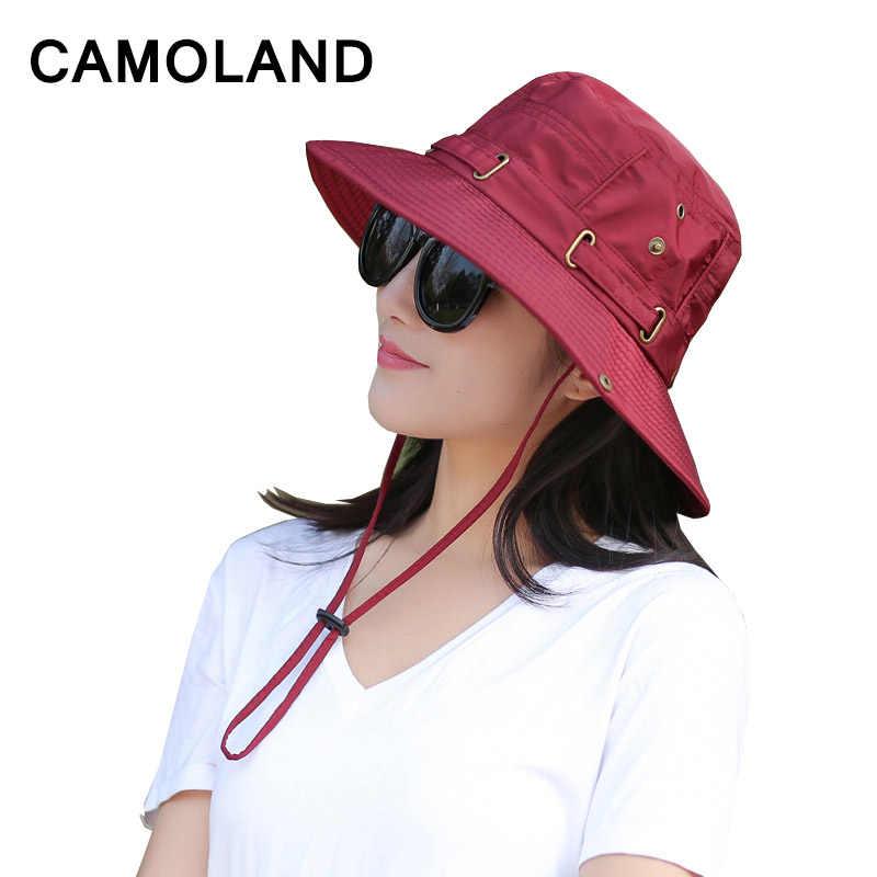b2b24b2e1f4 2018 New UPF 50+ Beach Cap Bucket Hat Men Women Boonie Hat Summer UV  Protection