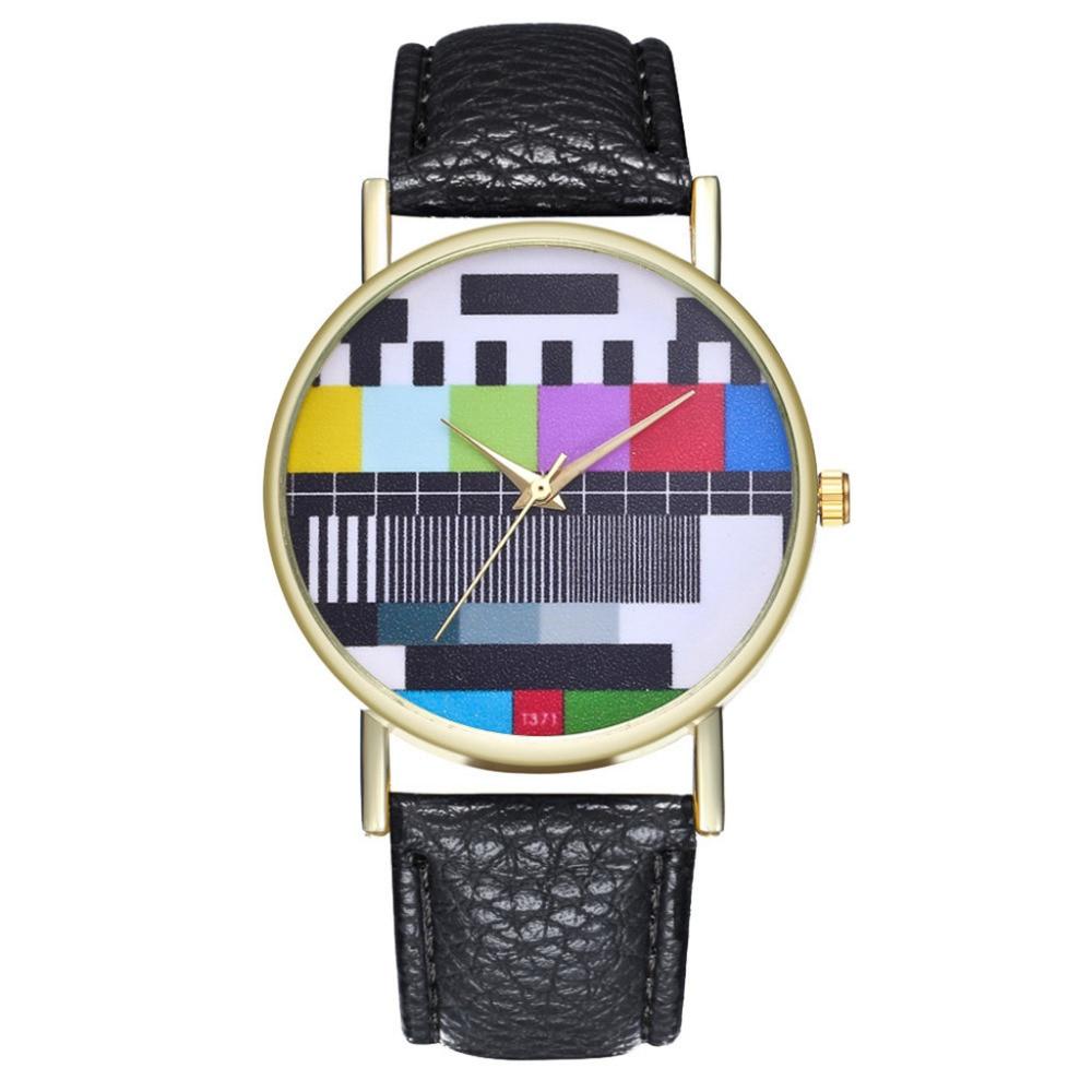 Women Watch Vintage Leather Strap Fashion Personality Dial Quartz Wristwatch Birthday Gift Creative Leisure Watch Reloj Mujer #A