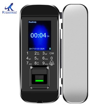 Door-Lock Voice-Guide Glass Biometric Fingerprint No-Drill Security for with Id-Cards