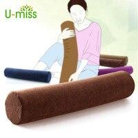 U miss Decorative Memory Foam Pillow Slow Rebound Cylindrical Nursing Cervical Round Candy Pillow Neck Pillow