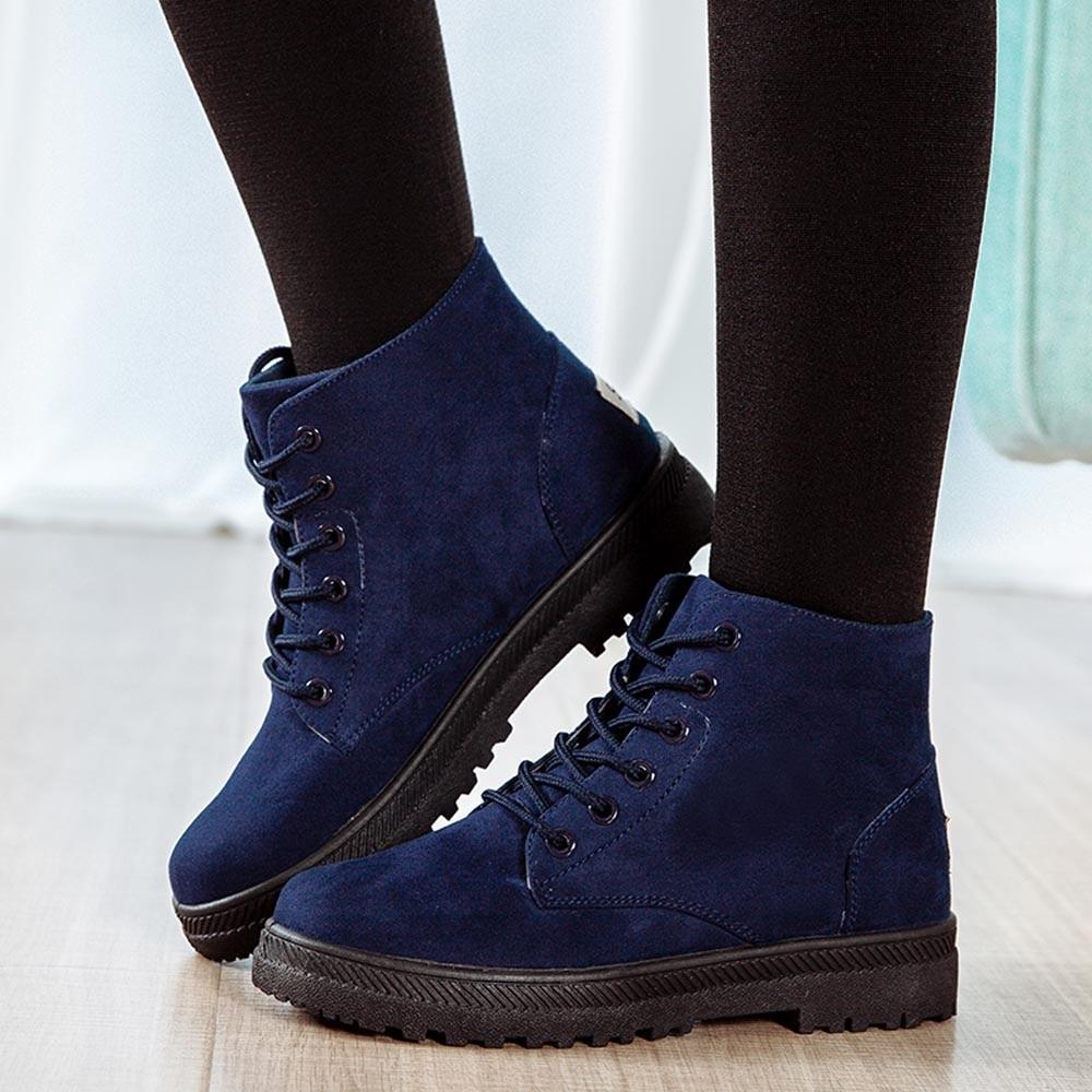 Hotselling Noir Chaussures bleu Plates Lacent Mode Toile Hiver Étudiants Lady Bottes Casual Cheville Femme rouge Femmes gris FKJl13Tc