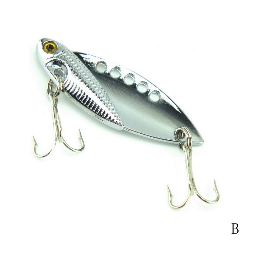 1pcs 5cm 11g metal fishing lure bass vib metal bait fish for Spoon fishing for bass