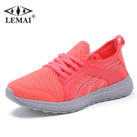LEMEI New Leisure Women Running Shoes Autumn Spring Breathable Air Mesh Sneakers For Female Super Light