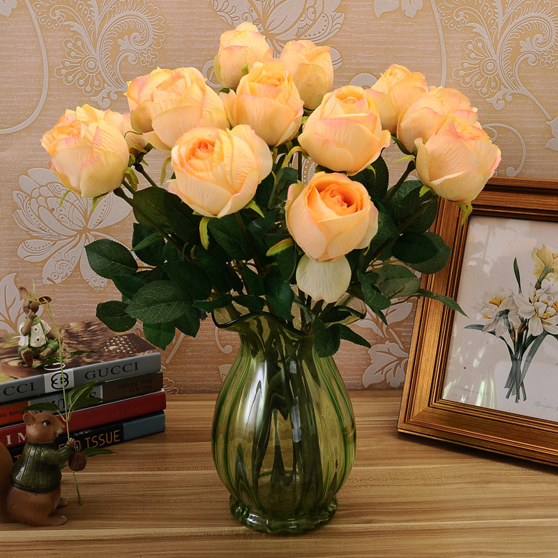 5pcs european style single painting silk flowers california royal 5pcs european style single painting silk flowers california royal gem rose flower flower wholesale explosion simulation room in artificial dried flowers mightylinksfo