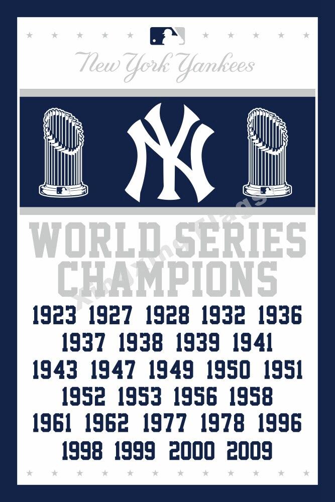 ჱNueva York Yankees World Series campeones bandera 3ft x 5ft ...