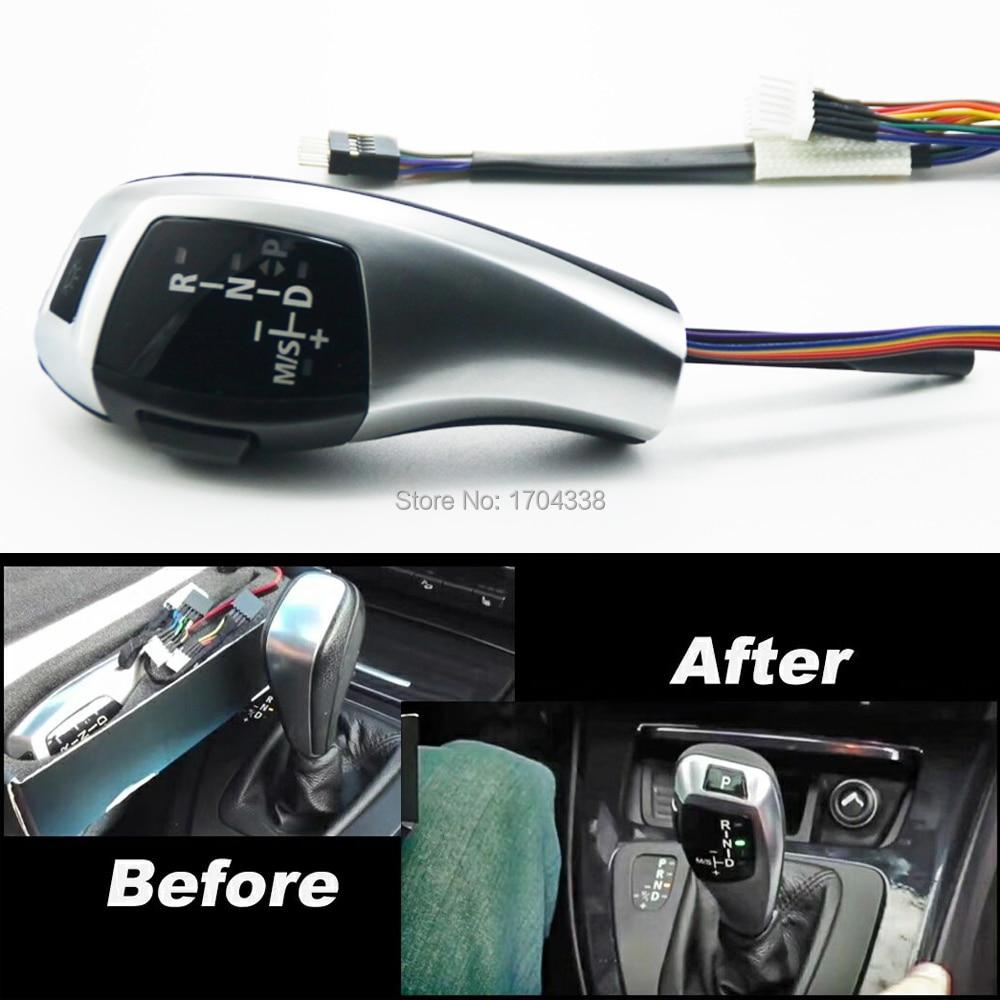 1 pièces pommeau de levier de vitesse LHD pommeau de levier de vitesse automatique pour BMW E91 E92 E93 pré-lifting E87 facelifté