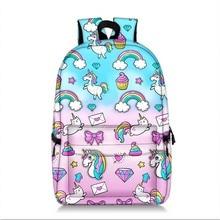 Kawaii Unicorn Backpack Women School Bag For Teenaer Girls Travel Laptop Large Capacity Mochila Dropshipping