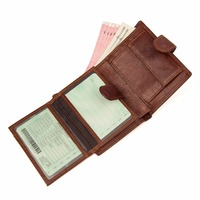 J M D Brand New Vintage Genuine Leather Billfolds Wallet For Men Organizer Money Wallet Card