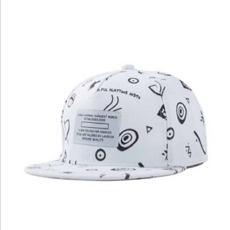 Fashion Summer women white  baseball Cap  Pattern white Hat Cap Snapback Sport female embroidered flat cap unisex cowboy hat cap cap flat top hat lace rhinestone flower hooded fashion tide cap cap riding hood