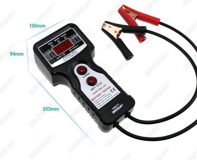 Skaitmeninių automobilių akumuliatorių testerių analizatorių - Matavimo prietaisai - Nuotrauka 3