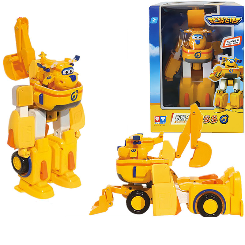 Free Shipping Super wings Donnie car+airplane Fit robot action figure toys super wing model Transformation robot for kids toy alloy plastic engineering vehicles deformation car robot transformation toys robot set action figure model for kids gift