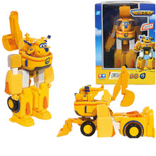 Free Shipping Super wings Donnie car+airplane Fit robot action figure toys super wing model Transformation robot for kids toy