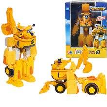 Ücretsiz Kargo Süper kanatları Donnie araba + uçak Fit robot aksiyon figürü oyuncakları süper kanat model Dönüşüm robot çocuklar için oyuncak