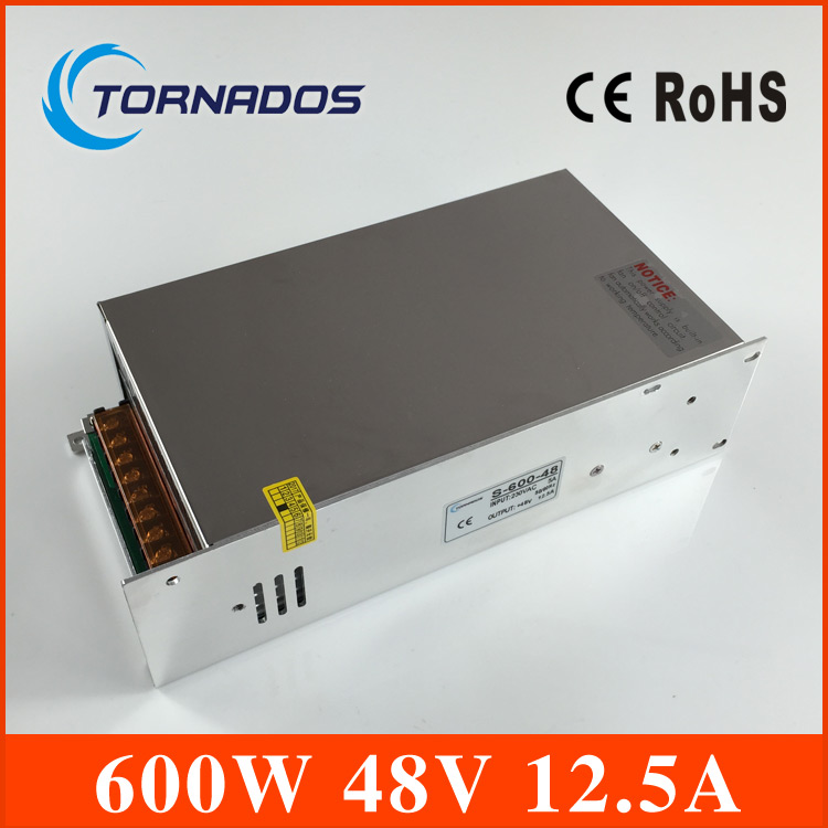led power supply 600W 48v 12.5A ac dc converter Input 110v or 220V S-600w 48v variable dc voltage regulator ac 110 220v dc 48v power supply 48v 12 5a 600w ac dc high power psu 600w s 600 48