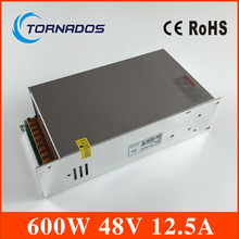Привело питания 600 Вт 48 В 12.5A ac/dc преобразователь Вход 110 В или 220 В S-600w 48 В переменный dc стабилизатор напряжения
