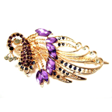 JEYL 10X Lovely Vintage Jewelry Crystal Purple Peacock Hair Clips – for hair clip Beauty Tools