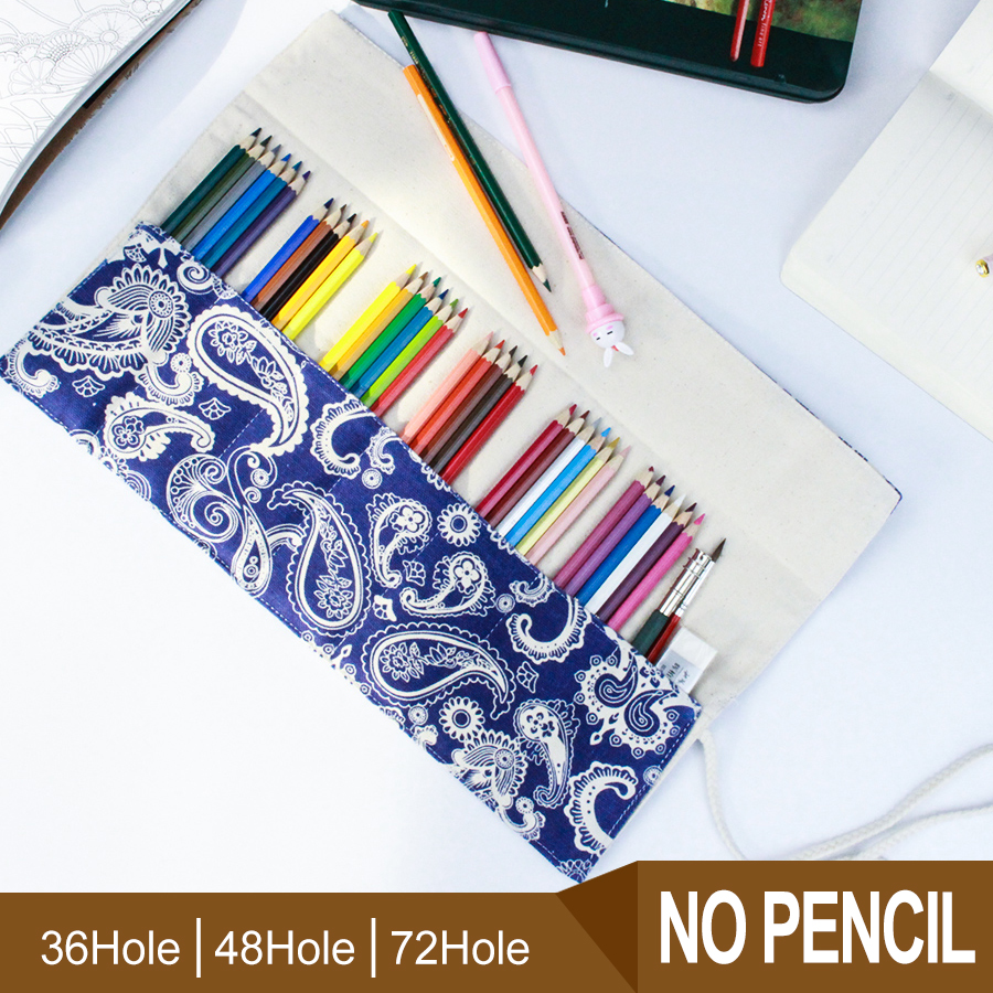 China Style Pencil Case Student 7/9/13 Pockets Pencil Wrap Stationary Roll Brush Pencil Storage Bag For Painting School Supplies