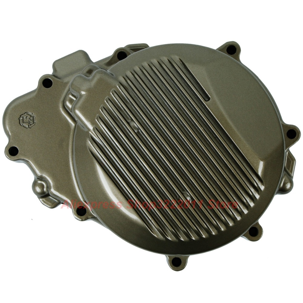 Motorcycle Left Crankcase Engine Stator Cover For Kawasaki ZX6R 1998 1999 2000 2001 2002 Starter Cover