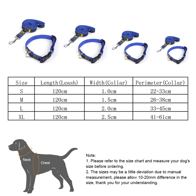 Dog Collar And Leash For Small Medium Large Dogs Denim Pet Belt Traction Rope 1 2m Set Adjule Collars