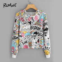 Cartoon Graphic Print Crop Hoodie