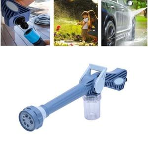 Pistola de agua de alta presión 8 en 1 para limpieza de jardín, rociador de pistola de plástico, fácil de usar, agua Ez Jet herramienta de rociador Turbo de cañón