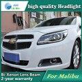 Estilo do carro caso Da Lâmpada de Cabeça para Chevrolet Malibu Faróis LED Farol DRL Acessórios de Lente de Feixe Duplo Bi-Xenon HID