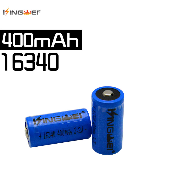 Hot sales 3.2v IFR 16340 CR123A <font><b>17335</b></font> LiFePO4 battery 400mah rechargeable cell for digital camera image