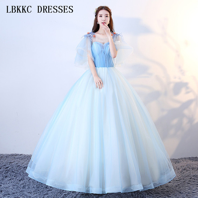 13efabc50 SexeMara vestido de festa formales short cap sleeve dress. Add Cart.   86.11. LBKKC DRESSES Quinceanera ...