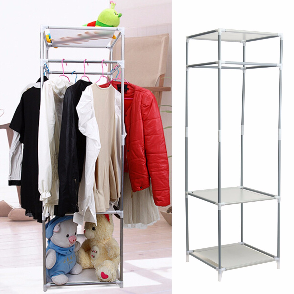 Design Diy Clothes Storage multifunctional oat metal closet storage organizers wardrobe clothes rack hanger home diy sundies shelves in wardrobes from furniture