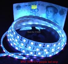arrival!High brightness UV Ultraviolet led strip light DC12V 5050 60leds/m purple,can identify money free ship